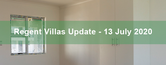 Regent Villas Unit Availability – 13th July 2020